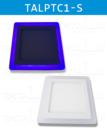 Double Color-LED Panel Downlight -Square Type - Tatalux